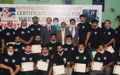 Pakistan Wrestling Federation hosts a National Coaching Course